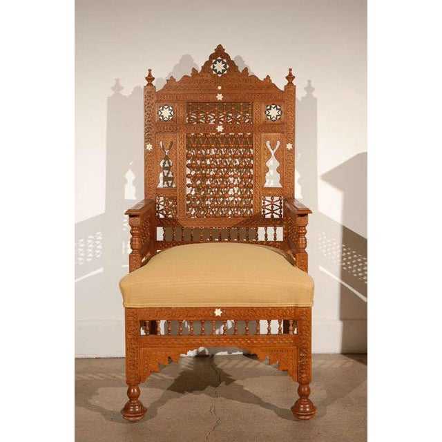 Syrian Moorish Royal Throne Armchairs For Sale - Image 10 of 10
