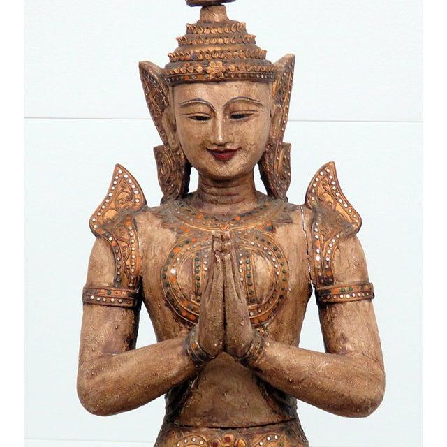 Anglo-Indian Tibetan Goddess Statue For Sale - Image 3 of 12