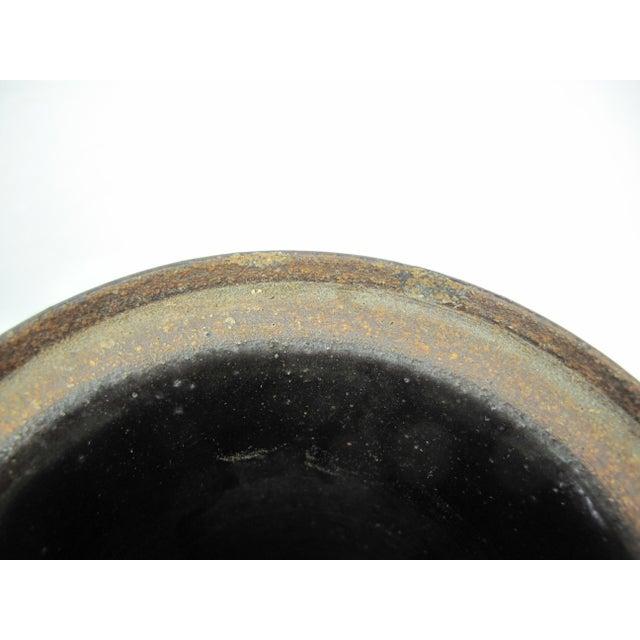 Mid Century Modern Lidded Cylinder Jar Vase For Sale - Image 4 of 7