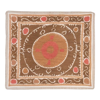 Suzani Embroidery Wall Decor 4'6'' X 4'11'' For Sale