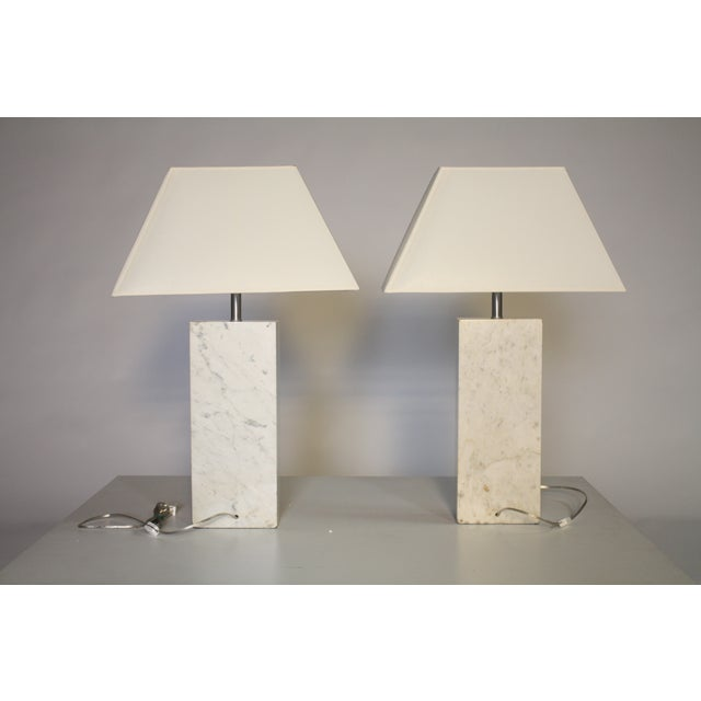 Nessen Marble Lamps - A Pair For Sale - Image 5 of 5