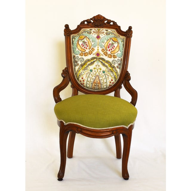 Victorian Parlor Side Chair - Image 3 of 6