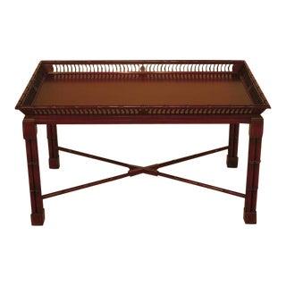 John Widdicomb Mario Buatta Chinoiserie Decorated Coffee Table