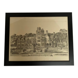 1893 Rosehaugh Mansion Architectural Drawing For Sale