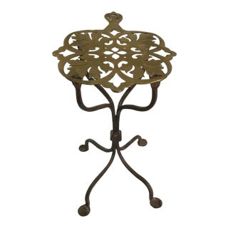 19th Century Brass and Iron Trivet For Sale