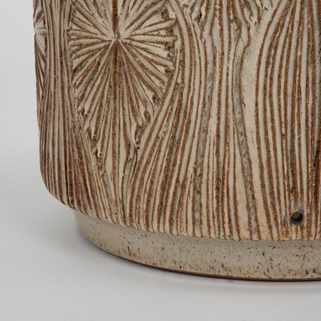 "Gray ""Teardrop Sunburst"" Planter by Robert Maxwell and David Cressey for Earthgender For Sale - Image 8 of 9"