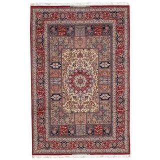 Modern Persian Korker Wool & Silk Highlighted Rug - 7′1″ × 11′4″ For Sale