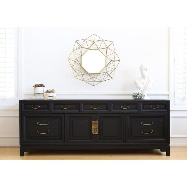 Mid Century Modern Black Dresser - Image 3 of 9