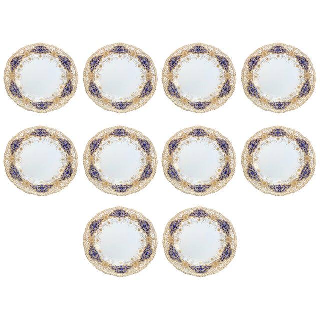 Ceramic Coalport Dinner Plates - Set of 10 For Sale - Image 7 of 7