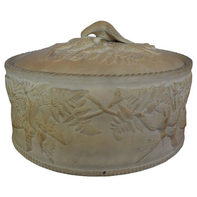 Antique French Caneware Game Pie Dish For Sale - Image 11 of 11