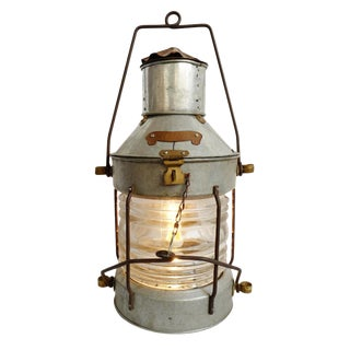 Industrial Nautical Table Lamp For Sale
