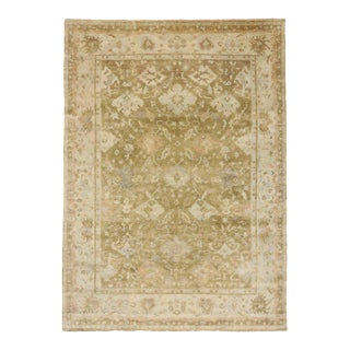 New Modern Oushak Rug with Transitional Style For Sale