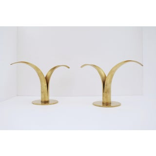 20th Century Hollywood Regency Ystad-Metall Brass Candlesticks - a Pair Preview