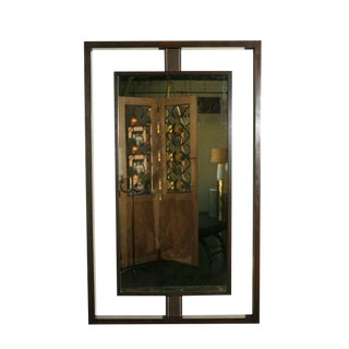 Customizable Paul Marra Negative Space Mirror with Matched Inner Frame For Sale