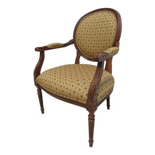 Ethan Allen Newport French Carved Lounge Chair For Sale