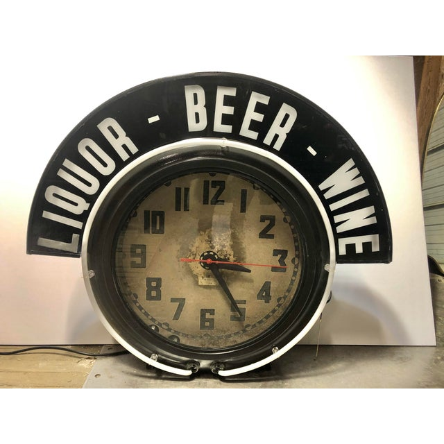 1930's original Cleveland Neon Clock with double neon and original marquee. It does work. Price includes shipping wood crate.