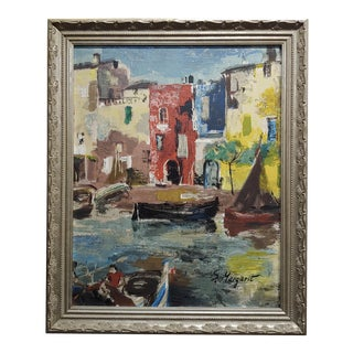 S. Margarit - Gondola Ride in Venice- Oil Painting For Sale