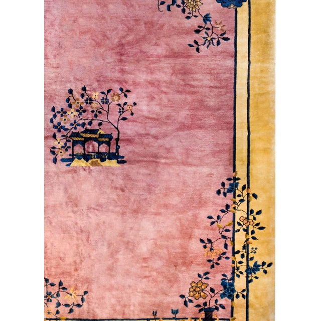 1920s Gorgeous Chinese Art Deco Rug For Sale - Image 5 of 8