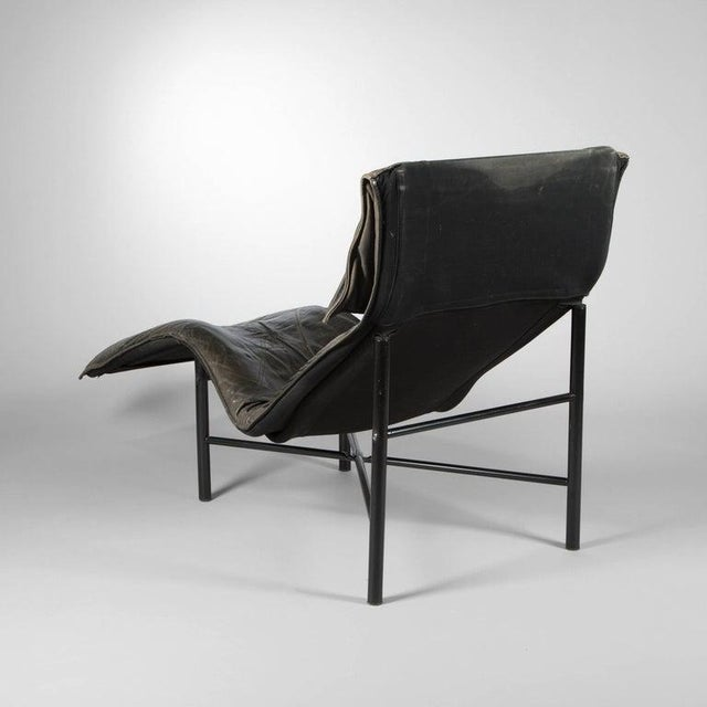 Tord Bjorklund Chaise Lounge in Black Leather For Sale - Image 9 of 13