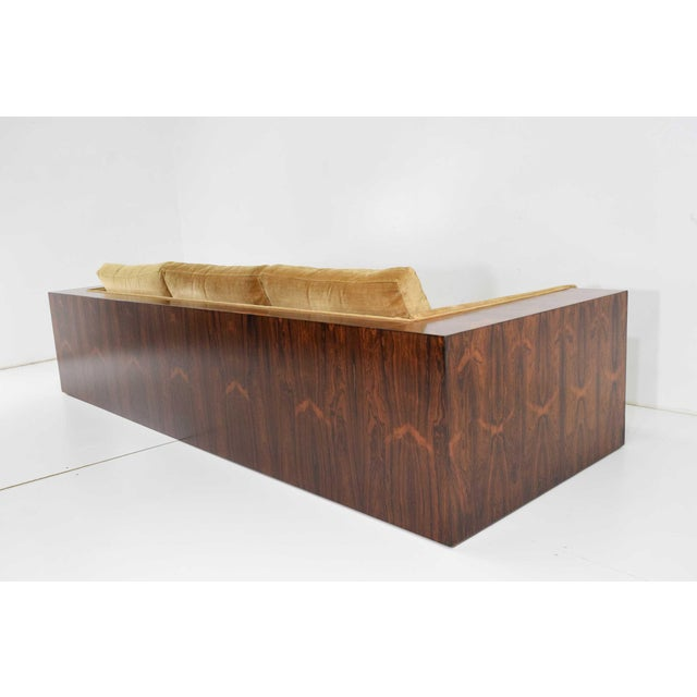 Milo Baughman for Thayer Coggin Rosewood Case Sofa For Sale - Image 13 of 13