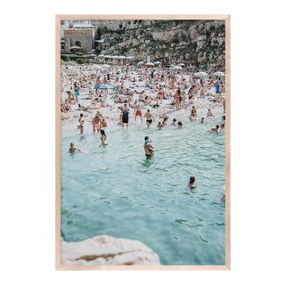 Poligano a Mare 3 by Natalie Obradovich in Natural Maple Framed Paper, Medium Art Print For Sale