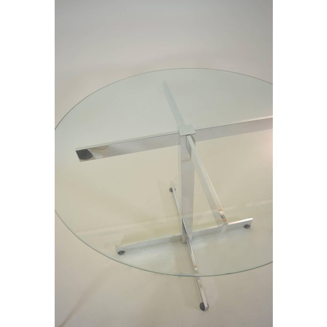 Mid-Century Modern Polished Aluminum Modernist Table For Sale - Image 3 of 6