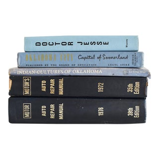 Vintage Blue Book Collection - Set of 5