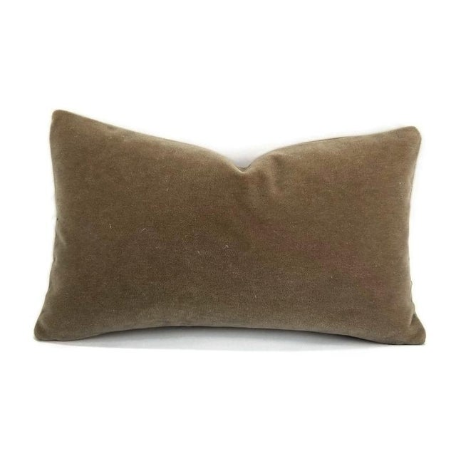 "Not Yet Made - Made To Order S. Harris Melrose Mohair Velvet in Linen Lumbar Pillow Cover - 12"" X 20"" For Sale - Image 5 of 5"