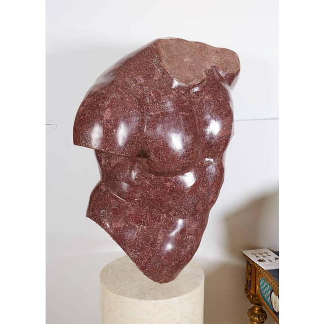 Italian Porphyry Veneered Model of a Torso, After the Antique, Anthony Redmile For Sale In New York - Image 6 of 11
