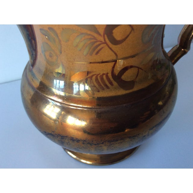 Traditional English Victorian Copper Lustreware Pitcher Jug For Sale - Image 3 of 8