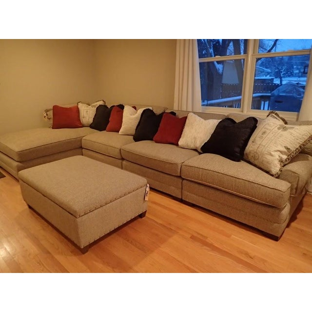 King Hickory Casbah Sectional With Ottoman - Image 3 of 4