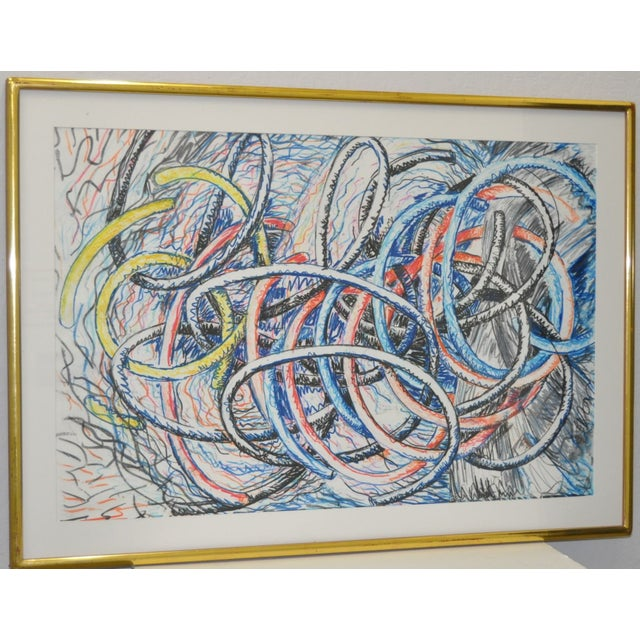 Dennis Croteau Mixed Media Abstract C.1980's - Image 3 of 6