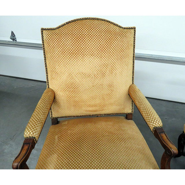 Country Pair of Country French Arm Chairs For Sale - Image 3 of 8