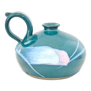 Teal Blue Studio Art Vase
