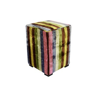 Candy-Colored Pouf Ottoman For Sale