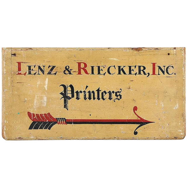 C. 1900Printer's Sign From Long Island NY - Image 1 of 4