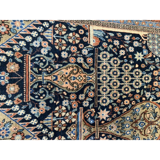 1910s Antique Persian Kashan Rug- 4′ × 6′6″ For Sale - Image 11 of 12