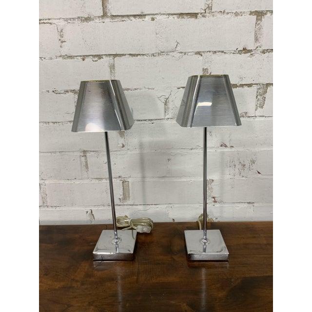 "Metal Vintage ""Igor Paris"" Table Lamps - a Pair For Sale - Image 7 of 13"