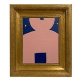 Image of Abstract Kokeshi Doll Head Chisai Painting #7 For Sale