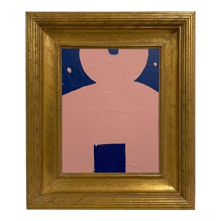 Abstract Kokeshi Doll Head Chisai Painting #7 For Sale