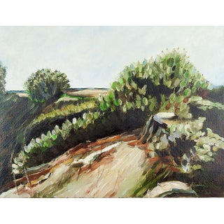 Impressionist Cactus Landscape Painting For Sale