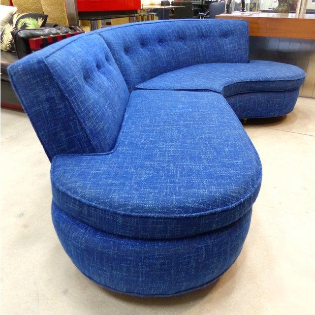 Mid-Century Modern Serpentine Sofa, circa 1950 - Image 5 of 11