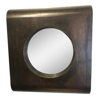 Hand Forged Bronze and Copper Mirror For Sale