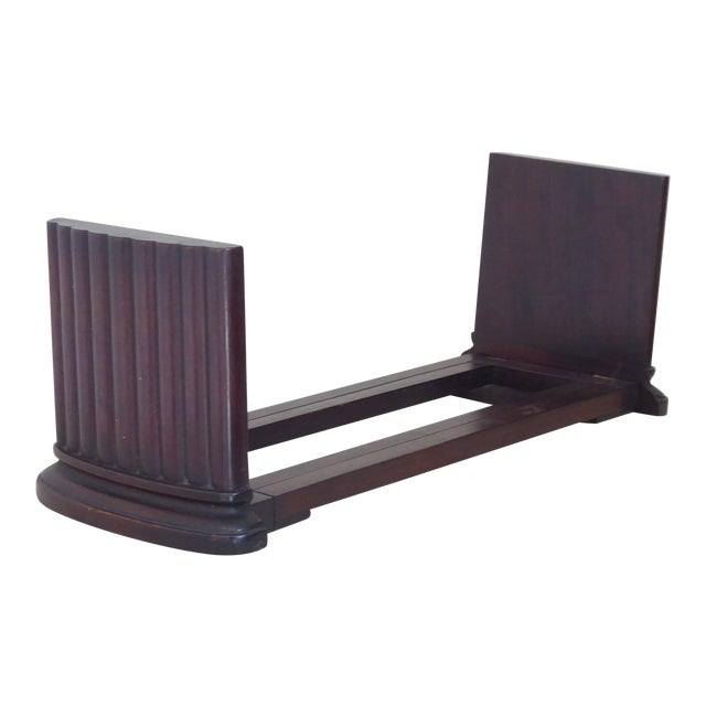 Vintage Traditional Mahogany Column Form Bookends For Sale