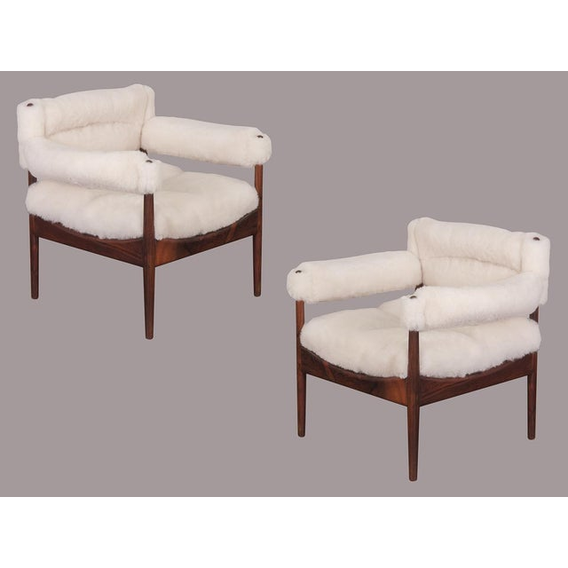 Kristian Vedel Sheepskin Modus Lounge Chairs - a Pair For Sale - Image 13 of 13