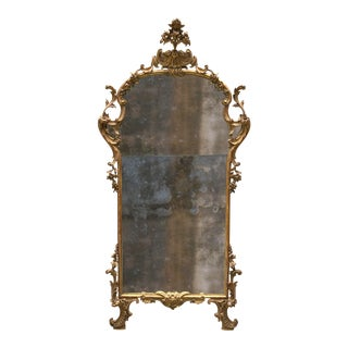 A Fine Italian Rococo Giltwood Mirror, Mid-18th Century,Tuscany For Sale