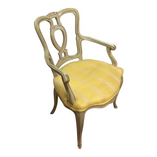 Vintage Mid Century French Country Arm Chair For Sale