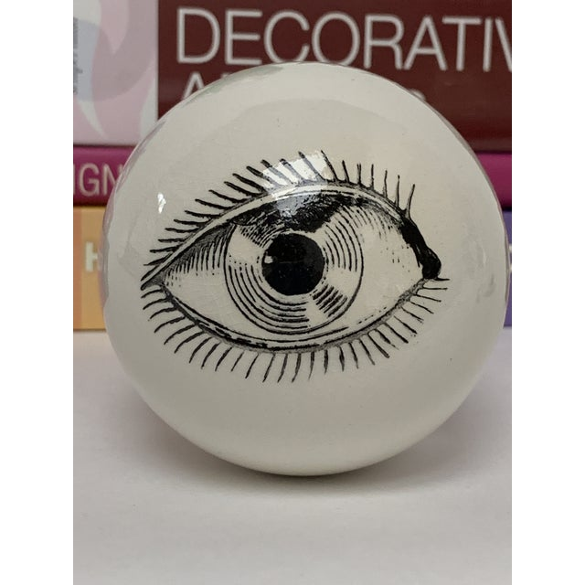 Fornasetti Surrealist Ceramic Eyeball Paper Weight For Sale In New York - Image 6 of 7