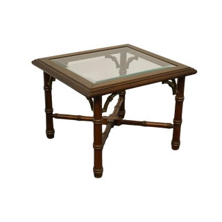 Asian Lane Furniture Altavista, Va Asian Inspired Faux Bamboo Accent Table For Sale