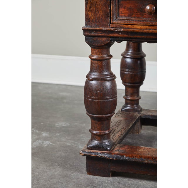 Brown 18th Century Danish Baroque Table With Turned Legs For Sale - Image 8 of 10